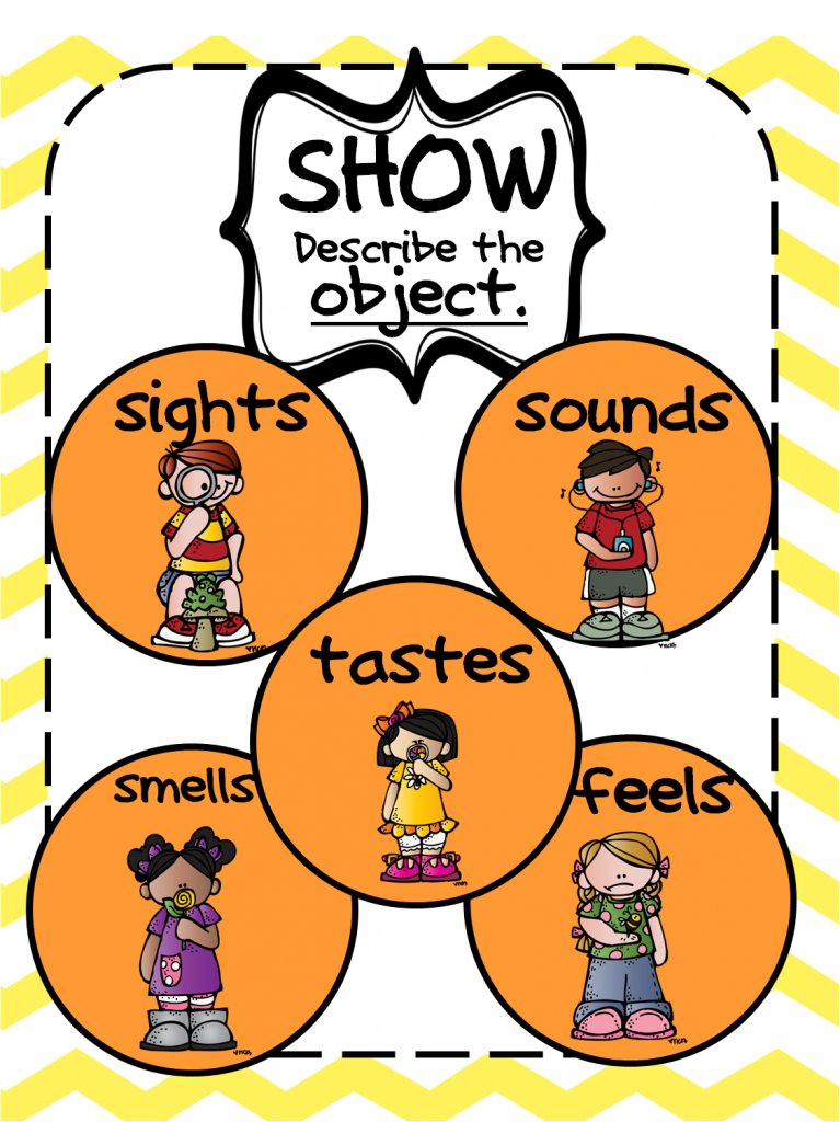 show not tell object